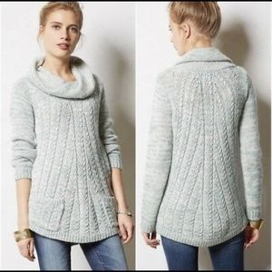 Anthropologie Cowl Neck Oversized Sweater XS